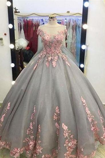 Charming Prom Dress,Ball Gown Prom Dresses,Appliques Lace Evening Dress,Formal Evening Dresses,Women Dress